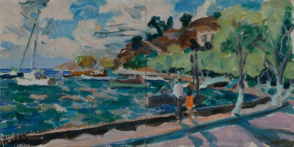 The Harbour - Breezy Afternoon (HG1095) Oil on Board 15
