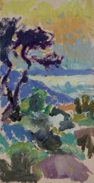 Evening in the Hills I (HG1098) Oil on Board 15.5