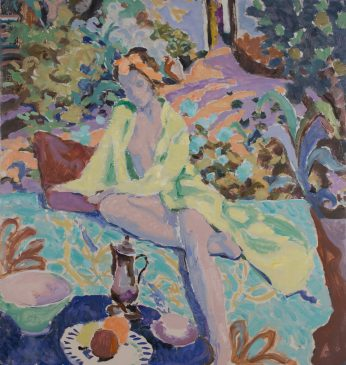 Green Thoughts in a Green Shade (HG1104) Oil on Canvas 36