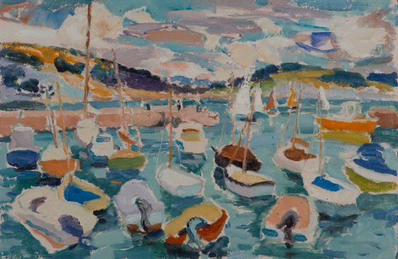 On the High Tide: Lyme Regis (HG1126) Oil on Board 15
