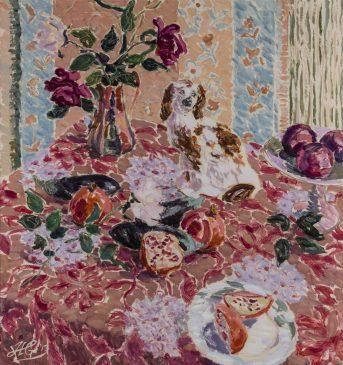 Still Life: My Surrogate Friend (HG1027) Oil on Canvas 36