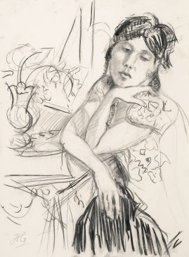 Compositional Study: a World of her Own (HG1033) Charcoal on Paper 28