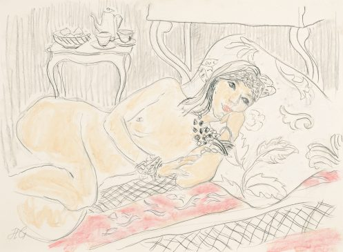 Arabella: Reclining Nude (HG1036) Charcoal & Chalk on Paper 21