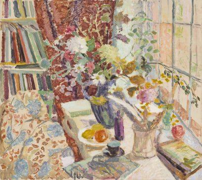 The Big Window, Autumn (HG1050) Oil on Canvas 48