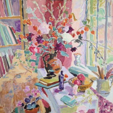 The Last Dhalias: Autumn Still Life (HG1060) Oil on Canvas 42