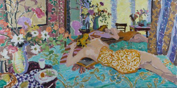 Freyja, Reclining, Morning Light (HG1112) Oil on Canvas 30