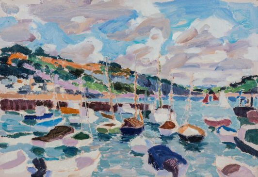 An August Morning: Lyme Regis (HG1177) Oil on Board 15