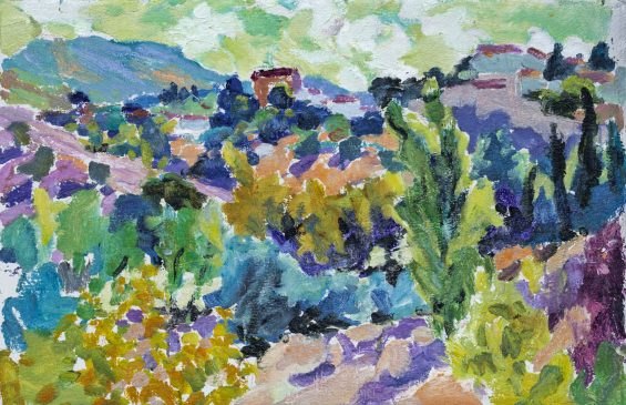 View to the Hills, Andalucia (HG1205) Oil on Board 15