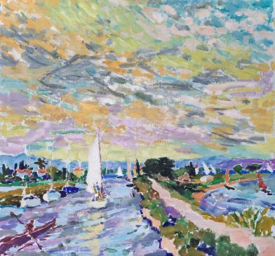 The Midi at Marseillan (HG1233) Oil on Canvas 34