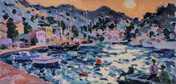 Sundown at Symi (HG1241) Oil on Canvas 18