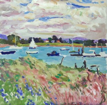 Spring on the Itchen (HG1242) Oil on Canvas 24