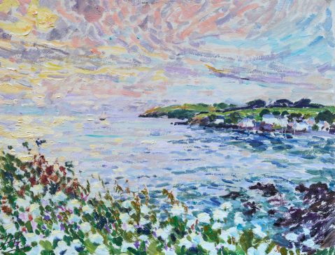 Dawn from the Cornish Cliffs (HG1245) Oil on Board 19