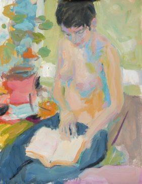 The Short Story - Jordana Reading (HG708) Oil on Canvas 26