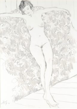 Nude with Outstretched Arms (HG758) Charcoal and Chalk on Paper 27