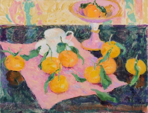 Still Life with Clementines (HG805) Oil on Canvas 20
