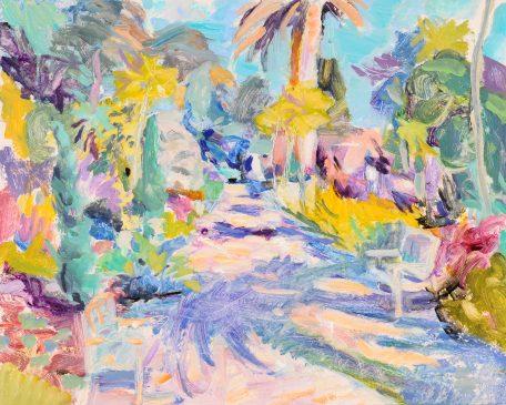 Tresco Garden, Easter (HG837) Oil on Board, 15