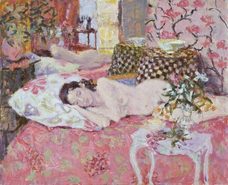 Sleeping Nude with Alstromeria (HG862) Oil on canvas 30