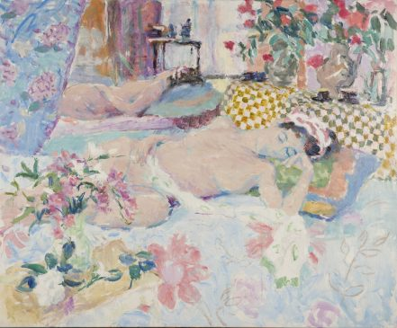 Morning Light, Sleeping Nude Dreaming (HG899) Oil on canvas 38