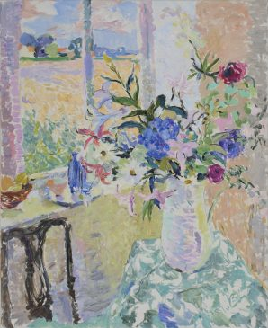 The Jug of Flowers, Harvest Time (HG921) Oil on canvas 44