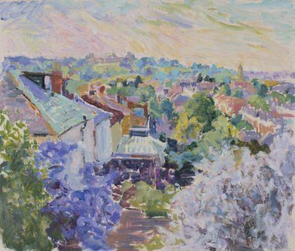 Evening, towards Alexandra Palace (HG925) Oil on canvas 23
