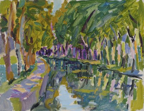 Evening Light, Canal Lateral (HG933) Oil on canvas 14