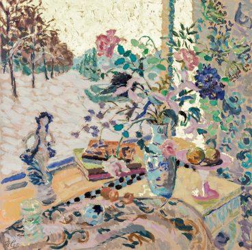 A Winter Garden (HG1160) Oil on Canvas 42