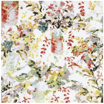 Hugo was asked to design a range of fabrics for Liberty's Art Prints in 2012, based on his flower paintings. Here are some of the designs, and some of the clothes they inspired....