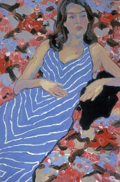 The Blue Dress (HG615) Oil on Canvas 30