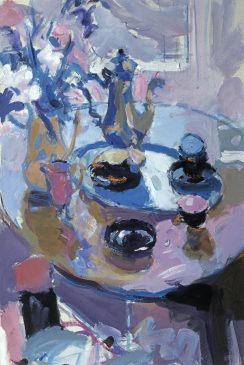 Blue and Violet Still Life (HG626) Gouache 22
