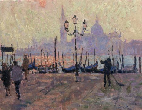 The Sweeper, Early Morning, St Marks Square (HG200)