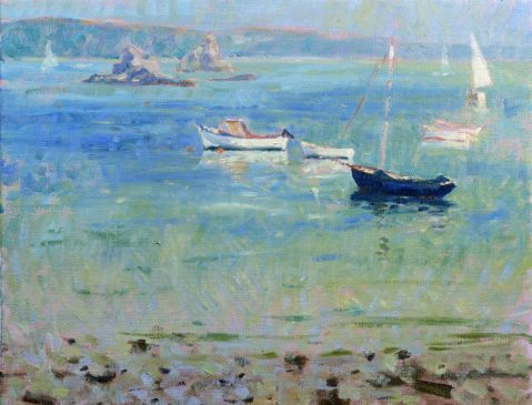 Low Tide, Still Afternoon (HG202) Oil on Canvas 14