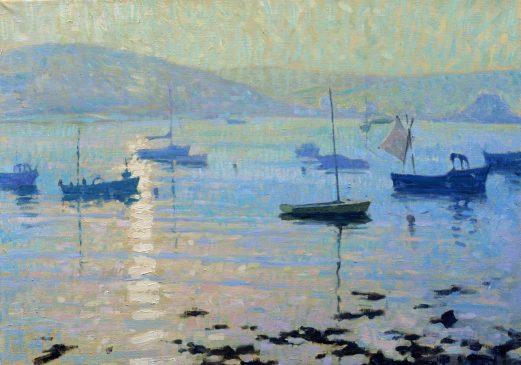 Sea Mist, Evening Sun, Tresco (HG207) Oil on Canvas 22