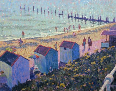 The Beach from North Parade, Southwold (HG210) Oil on Canvas 24