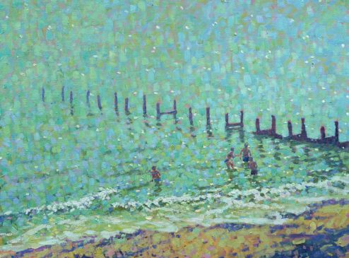 The Sea at Southwold, Hot June Day (HG213) Oil on Canvas 28