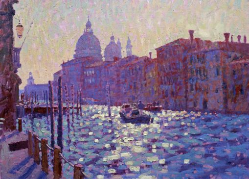 The Grand Canal, shortly after Sunrise (HG215) Oil on Canvas 22