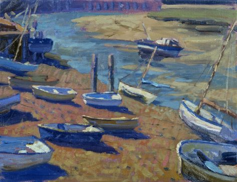 Wells Harbour, Low Tide (HG223) Oil on Canvas 14