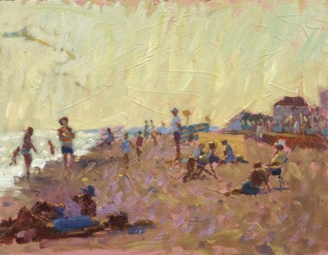 Sultry Afternoon, Southwold (HG241) Oil on Board 11.5