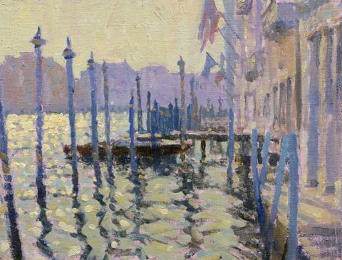 Early Morning Light, Grand Canal (HG243) Oil on Board 11.5