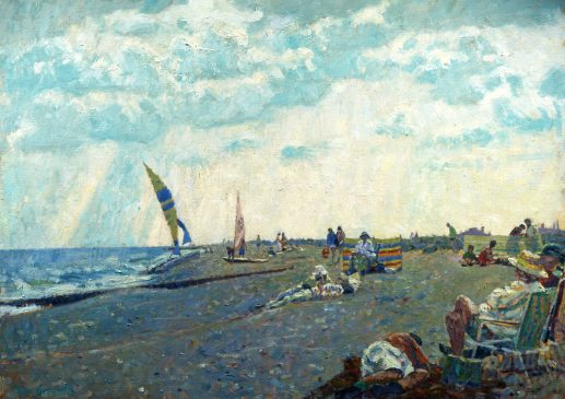 August, Southwold (HG113) Oil on Canvas 30