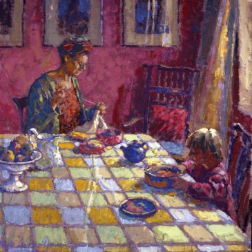 The Chequered Tablecloth (HG128) Distemper 24