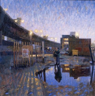 Dusk, Paddington New Yard (HG15) Oil on Canvas 30