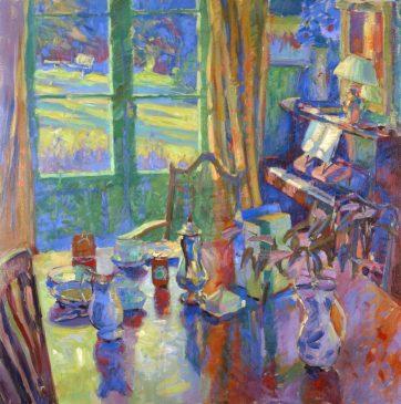 Still Life, Breakfast (HG304) Oil on Canvas 30