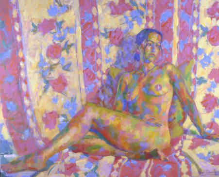 Reclining Nude (HG305) Oil on Canvas 32