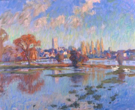 The Waveney in Flood, February Morning (HG306) Oil on Canvas 34