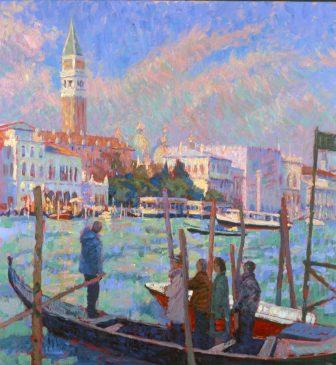 The Traghetto (HG311) Oil on Canvas 32