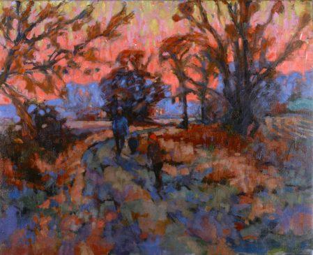 Winter Dusk Suffolk (HG316) Oil on Canvas 24