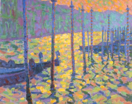 The Grand Canal, Evening (HG317) Oil on Camvas 24