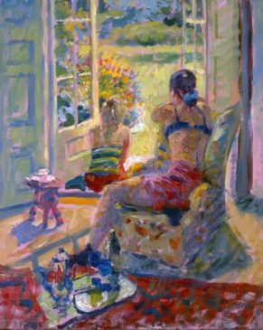 View to the Garden (HG321) Oil on Canvas 24