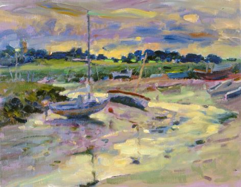 The Creek, Low Tide (HG352) Oil on Canvas 14