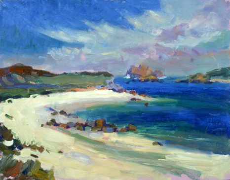 Looking North from Lizard Point (HG378) Oil on Board 14